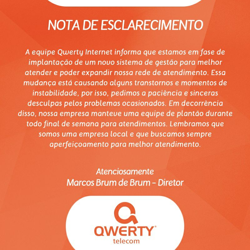 Photo of Nota de esclarecimento – Qwerty Internet