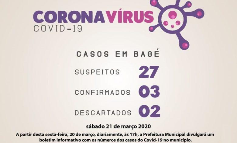 Photo of Mais um caso de coronavírus é confirmado em Bagé