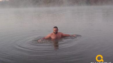 Photo of Que tal um banho no Rio Santa Maria, com temperatura de -3° C ?