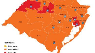 Photo of Mapa do Distanciamento Controlado: Dom Pedrito permanece na bandeira laranja